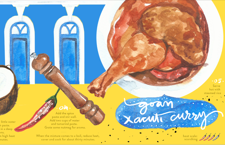 Food Illustration - Xacuti Curry