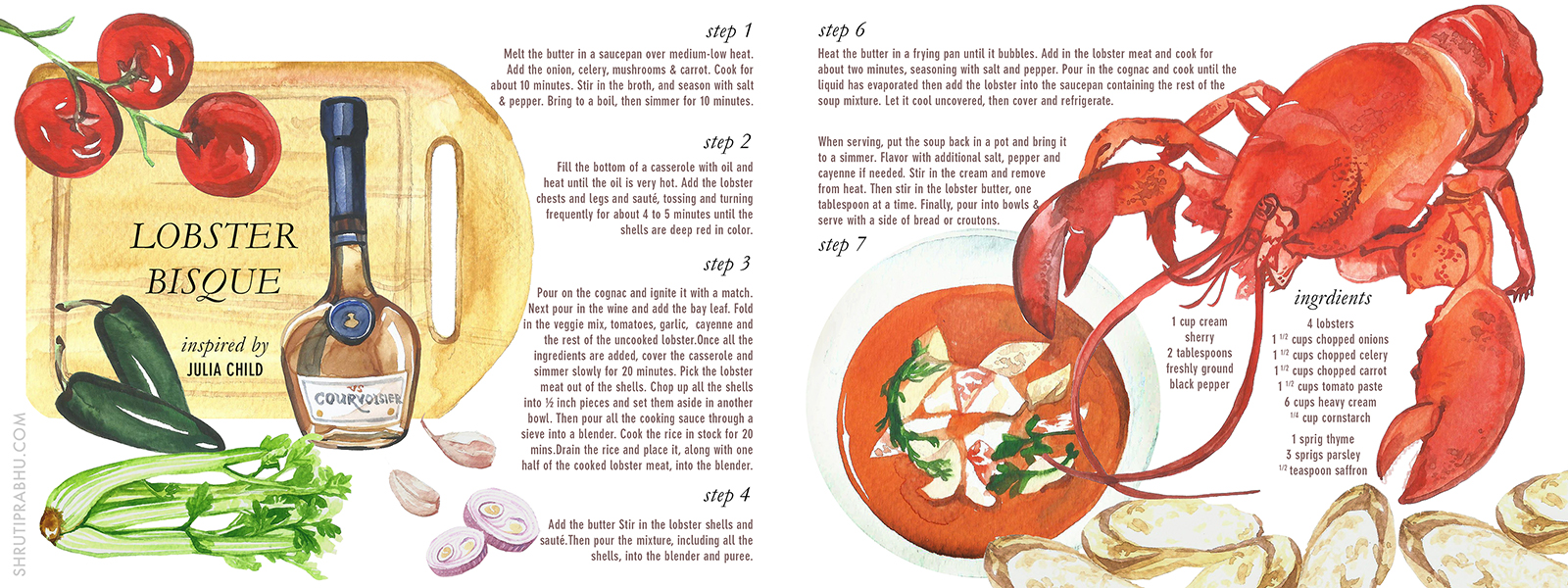 Illustrated Recipes | Lobster Bisque
