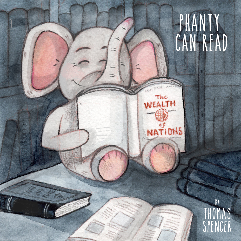 Phanty Can Read - Book Cover Illustration