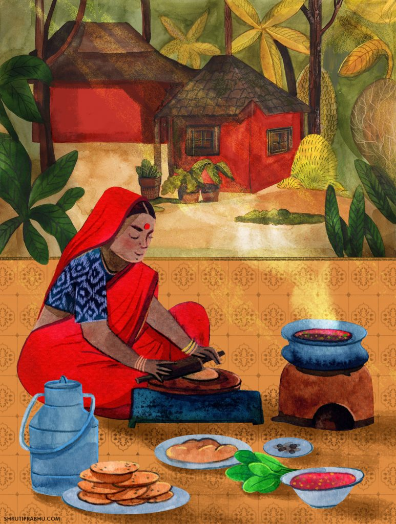 Village_Food Illustration