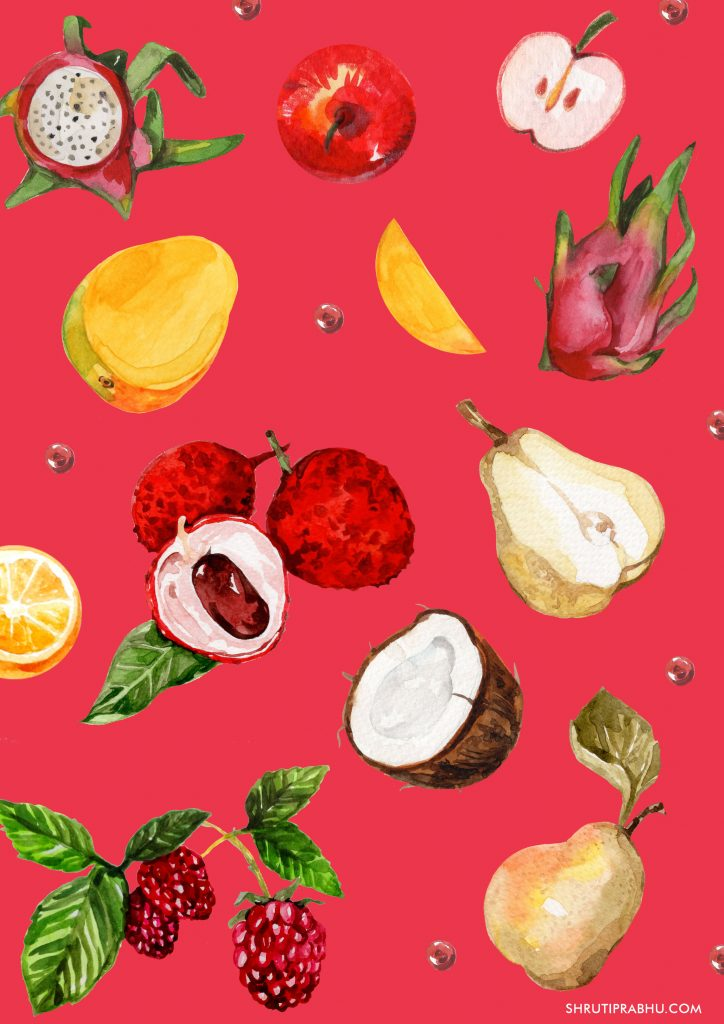 Food Illustration - Fruits