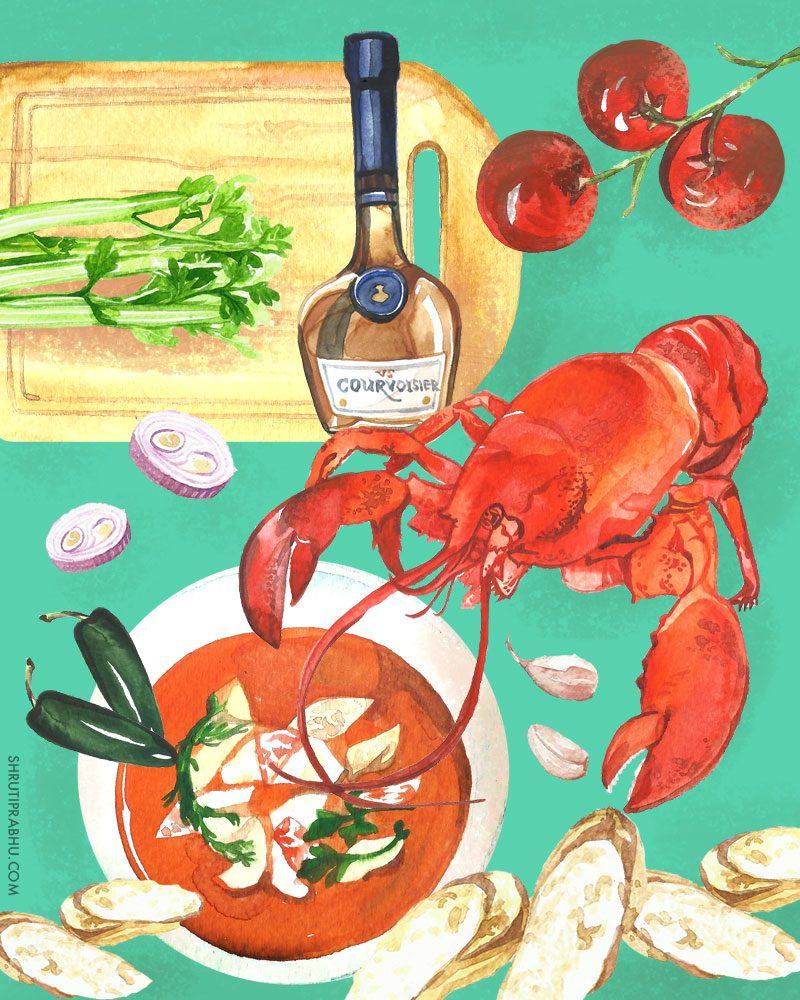 Food Illustration - Lobster
