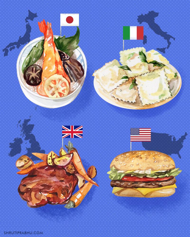 Food Illustration - Dishes