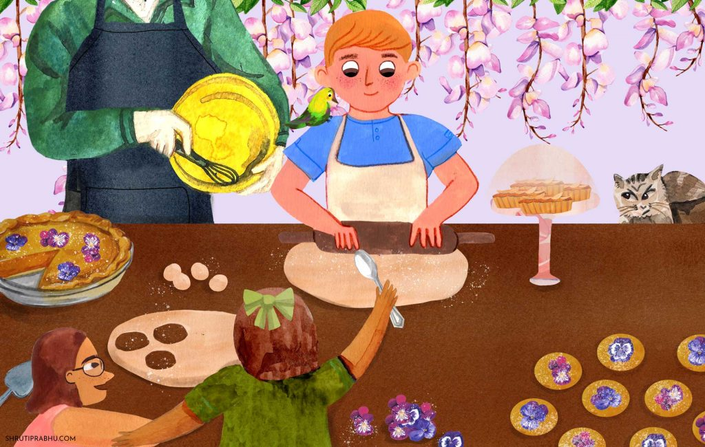 Flower Cookies - Food Illustration
