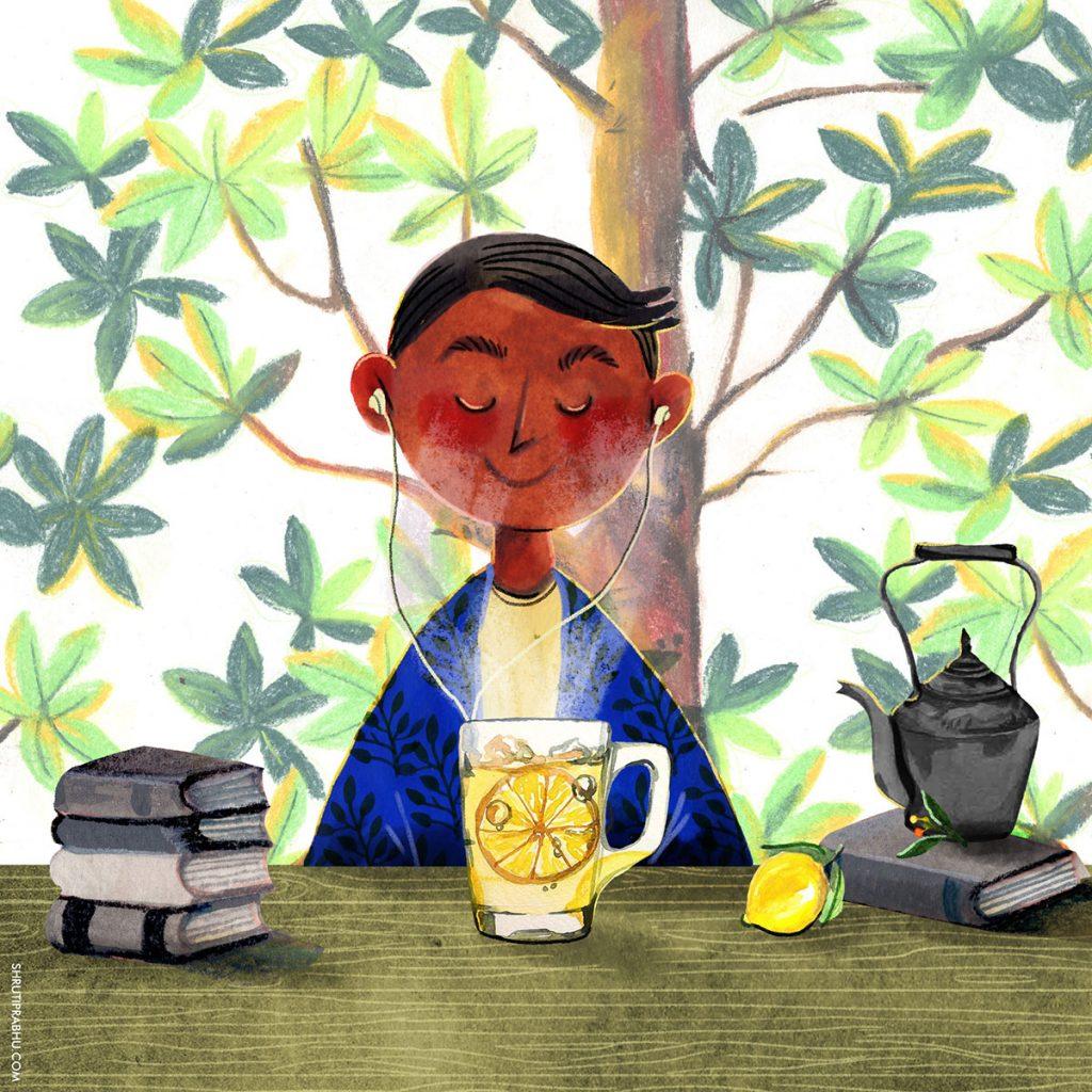 Food Illustration - Lemon Tea