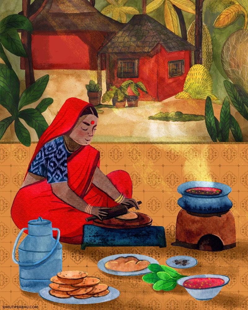 Food Illustration - Village
